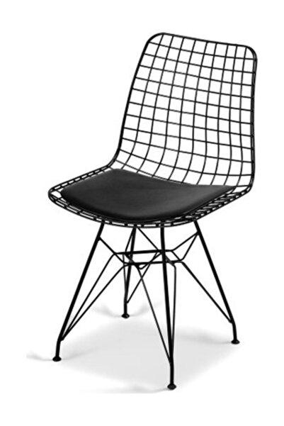 Cosargroup Dekor Siyah Tel Sandalye  Bahçe Ev-yaşam Kafe Mutfak