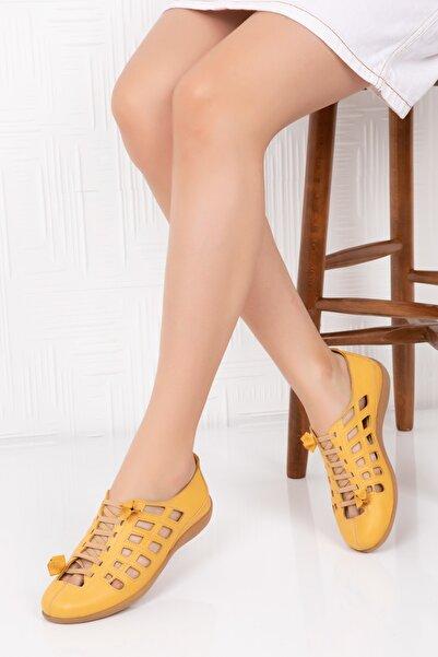 Gondol Hakiki Deri Anotomik Taban Günlük Ayakkabı