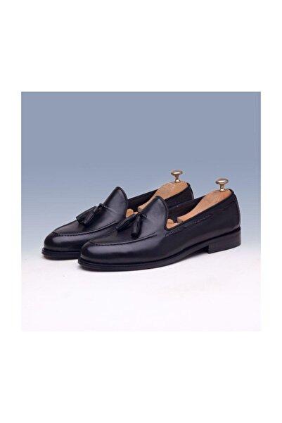 TETRİ Siyah Deri Klasik Ayakkabı