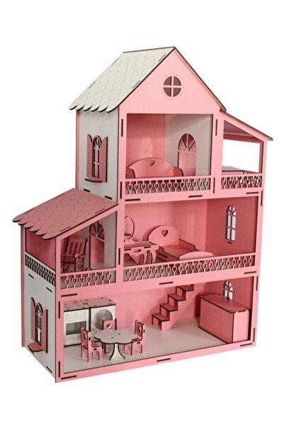 Okutan Hobi Ev10 Pembe Barbie Ev Eşyalı