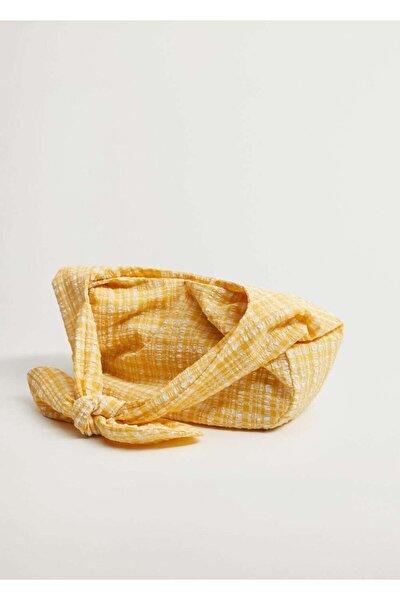 MANGO Woman Vichy Bucket Çanta