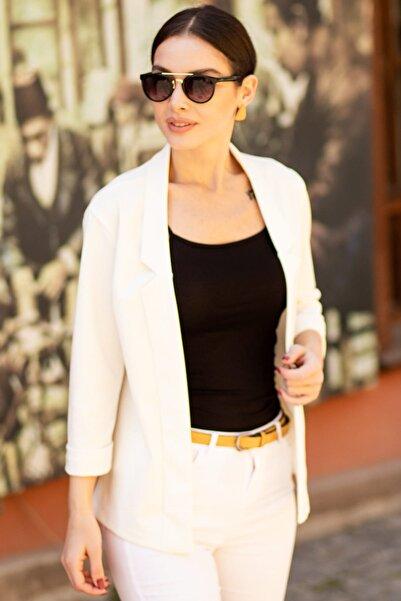 armonika Kadın Beyaz Duble Kol Ceket ARM-18Y001173