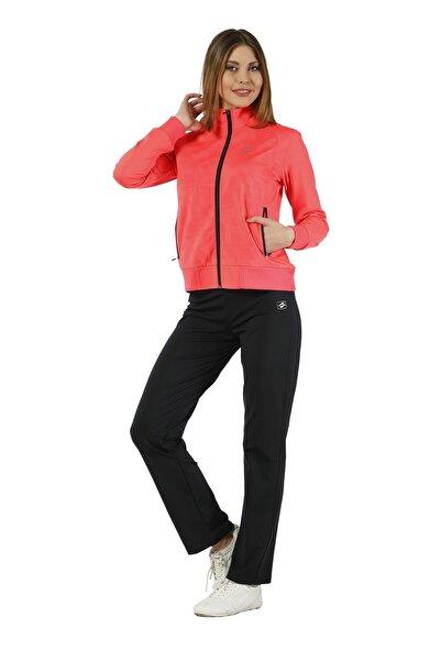 Crozwise Kadın Siyah Pembe Dalgıç Spor Eşofman Takımı 2775