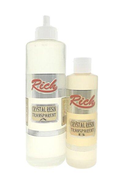 Rich Crystal Resin Transparan Şeffaf Kristal Reçine Epoksi 750 cc.