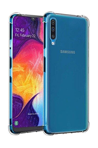 Telefon Aksesuarları Galaxy A50 Ultra İnce Şeffaf Airbag Anti Şok Silikon Kılıf - Şeffaf