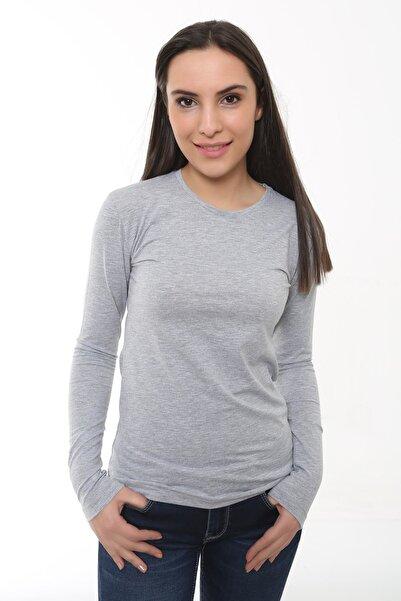 Cazador Kadın Gri  T-Shirt - 4306_727