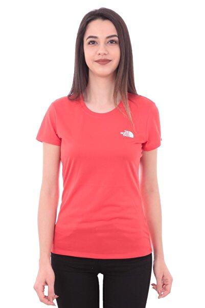 THE NORTH FACE Kadın T-Shirt Kırmızı - W Reaxıon Amp Crew - Eu  - T0CE0TUC0