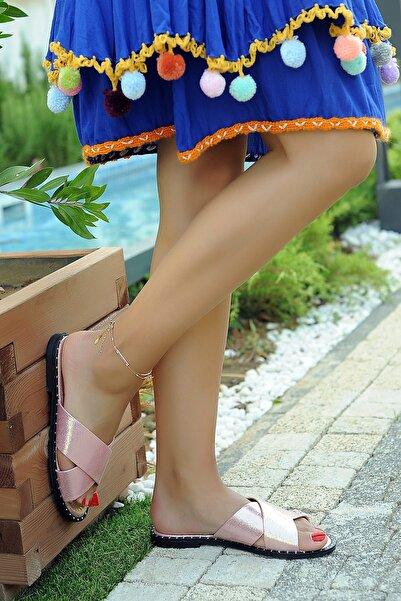 Pembe Potin Pembe Kadın Terlik A1006-19