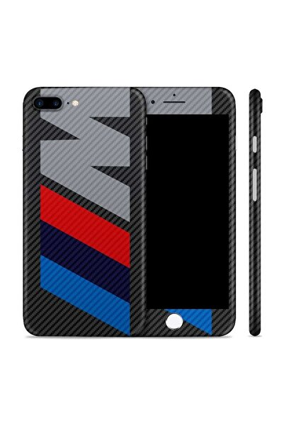 Renkli Garaj iPhone 7 Plus M Premium Carbon Fiber Telefon Kaplama