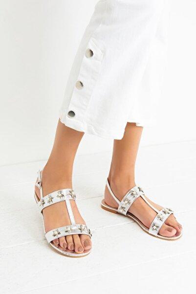Derimod Gümüş Kadın Sandalet