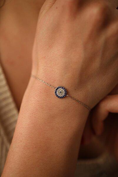 İzla Design Kadın Nazarlık Model Gümüş Bileklik İZLASLVR00186