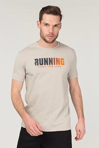 bilcee Krem Pamuklu Erkek T-Shirt FS-1681