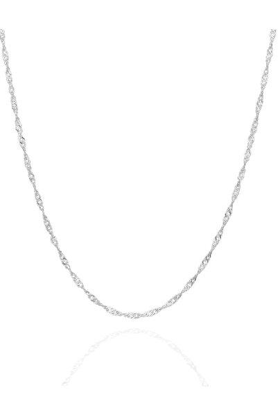 İzla Design Kadın Singapur Modeli 45 CM Gümüş Zincir İZLASLVR00594