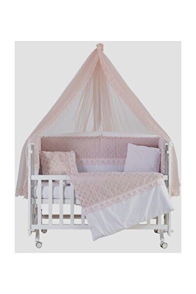 G&G baby Beşik Uyku Seti Dream Pembe Lüks 60*120 Cm Cibinlik Ve Metal Askı Dahil
