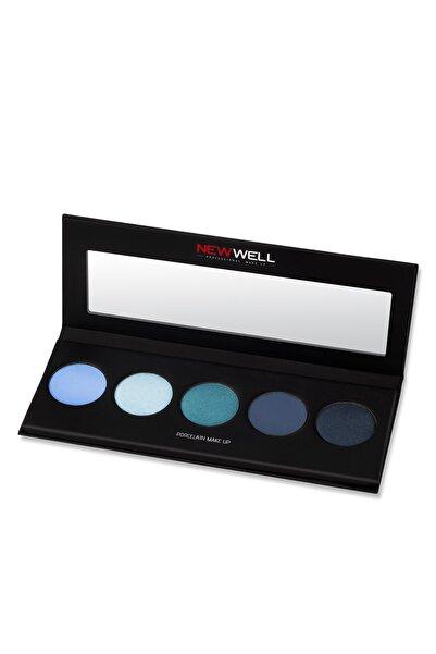 New Well 5'li Göz Farı Paleti - Derma Cover Palette Eyeshadow Blue Tones 5 Colours 8680923309880