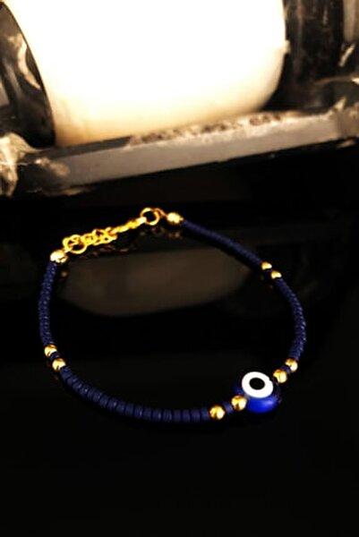 Doğaltaş Kadın Lapis Lazuli Taşı Altın Kaplama Bileklik KRB426