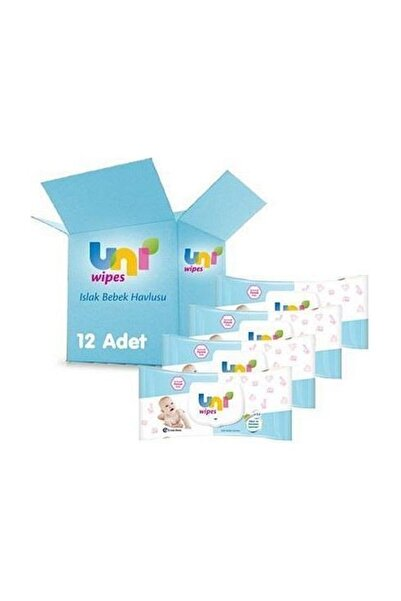 Uni Baby Classic Islak Havlu Kapaklı 56'lı x 12 Paket - 672 Yaprak