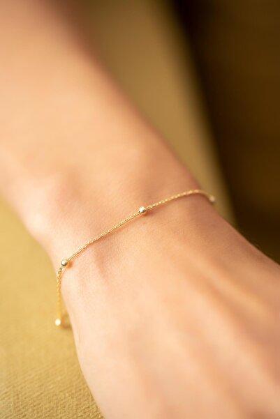 Ninova Silver Toplu Model Altın Kaplama Gümüş Bileklik