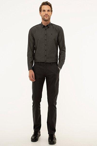 Pierre Cardin Erkek Antrasit Gri Slim Fit Chino Pantolon