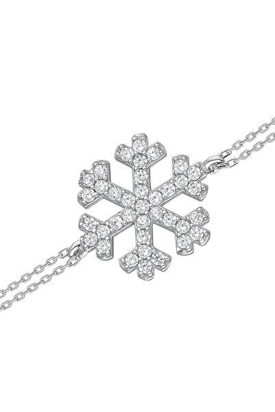 Glorria Kadın Gümüş Kar Tanesi Bileklik DT0020-B
