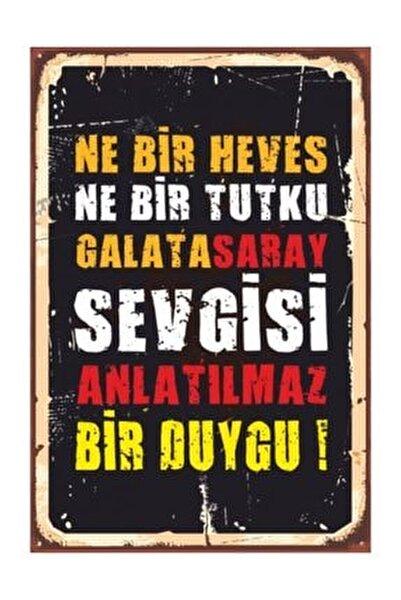 Galatasaray  Retro Vintage Ahşap Poster