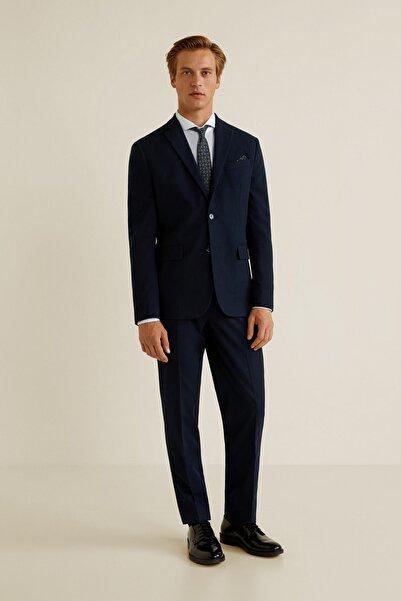 MANGO Man Erkek Koyu Mavi Pantolon
