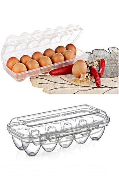 10 Gözlü Yumurta Saklama Kabı Şeffaf