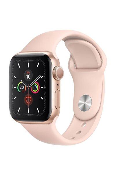 Apple Watch Series 5 GPS 40 mm Altın Rengi Alüminyum Kasa ve Kum Pembesi Kordon