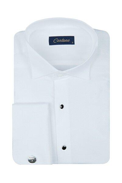 Centone Comfort Fit Duble Manşet Gömlek 19-0212