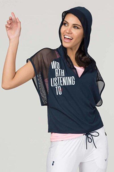 bilcee Lacivert Kadın Antrenman T-Shirt FS-1121