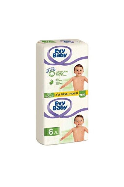 Evy Baby Bebek Bezi 6 Beden 2 Li Fırsat Paketi 40 Adet