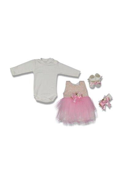 ALOHA Papyonlu Etekli Ucuz Kız Bebek 40 Mevlüt Kıyafeti
