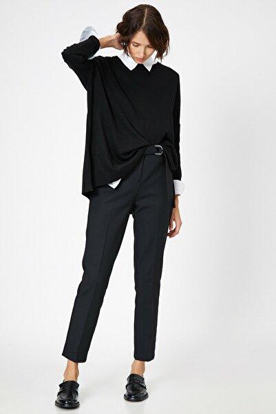 Koton Kadın Siyah Pantolon 8KAP42390UW
