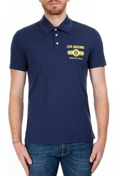 Love Moschino Erkek Lacivert T-Shirt S M831803M3876 Y61