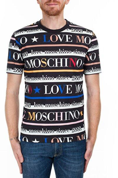 Love Moschino Erkek Siyah T-Shirt S M473200M3997 0013