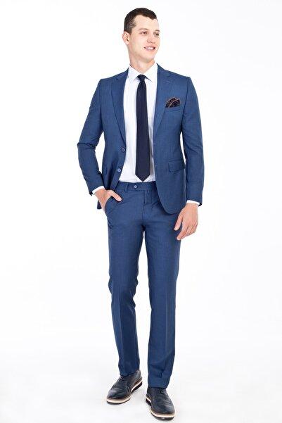 Kiğılı Slim Fit Desenli Takım Elbise