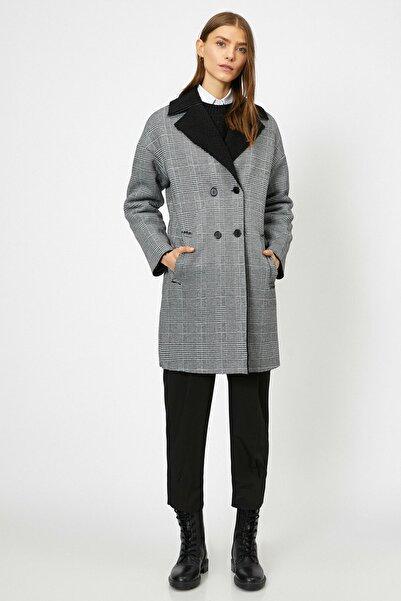 Koton Kadın Siyah Coats 0KAK06595EW