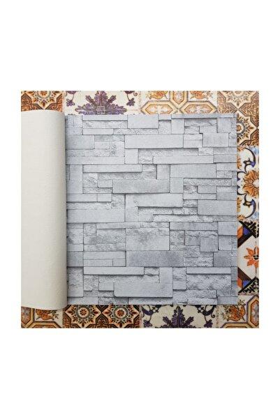Golden 3 Boyutlu 12692 Taş Tuğla Desenli Duvar Kağıdı (5m²) - Tutkal Hediyeli