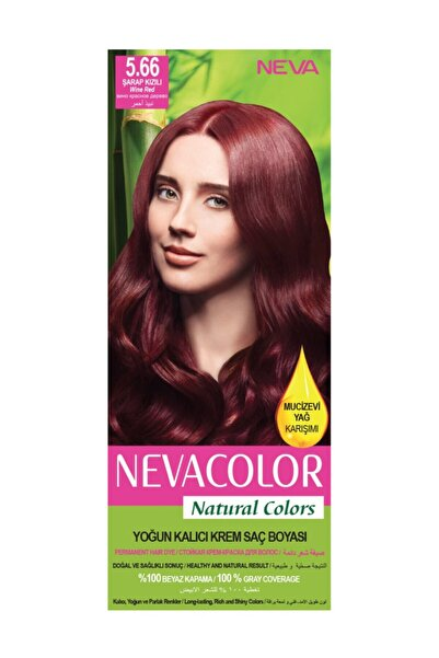 Neva Color Saç Boyası Seti 5.66 Şarap Kızılı 8698636612258