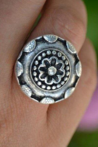 Stoneage Otantik Antik Gümüş Ayarlanabilir Bayan Yüzük