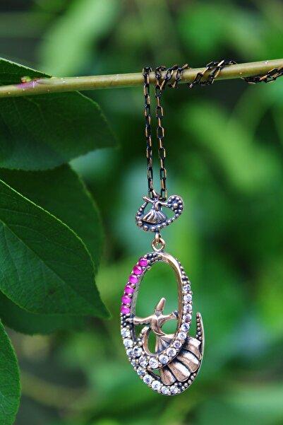 Stoneage Jewellery Yakut Ve Zirkon Taşlı Semazen Bayan Kolye