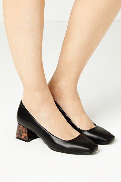 Marks & Spencer Kadın Siyah Alçak Topuklu Ayakkabı T02002246