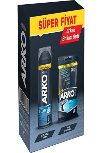 ARKO Men Erkek Bakım Seti Köpük + 10 Traş Bıçağı