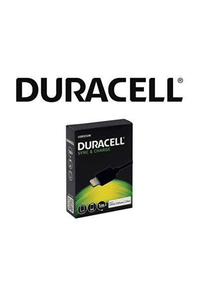 Duracell Apple 1 Mt.şarj Data Kablosu Siyah