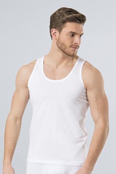 TÜREN Erkek Beyaz 2'Li Penye Atlet