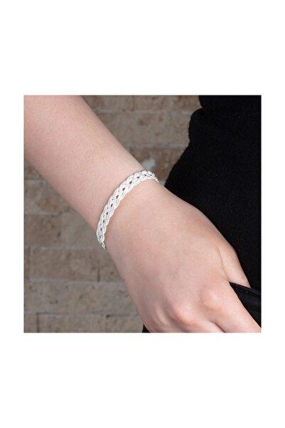 Tesbihane El İşçiliği Gümüş Renk 1000 Ayar Kazaz Kadın Bileklik 104000634