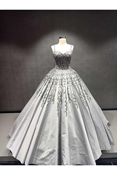 Womentic Bridal Kadın Antrasit Nişanlık Elbise