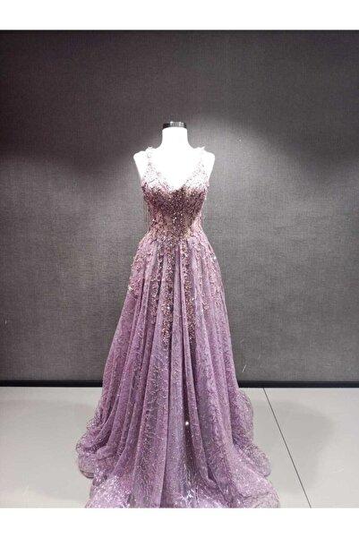 Womentic Bridal Kadın Mor Nişanlık Elbise