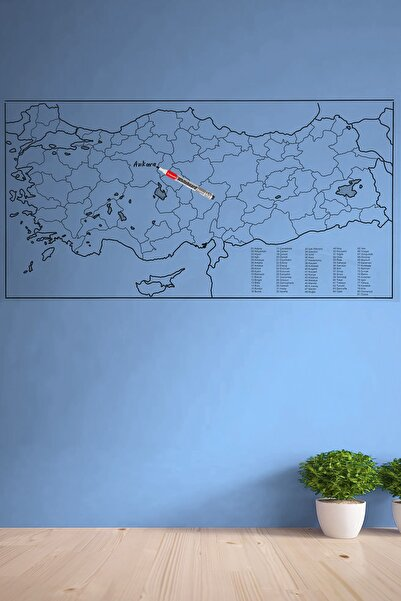Buffer Türkiye Haritası Duvar Stickerı (110 x 56 cm)