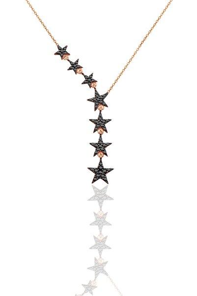 Söğütlü Silver Kadın 925 Ayar Gümüş Kuyruklu Yıldız Onix Taşlı Kolye SGTL3512